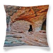Ancient Ruins Mystery Valley Colorado Plateau Arizona 05 Text Throw Pillow