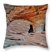 Ancient Ruins Mystery Valley Colorado Plateau Arizona 05 Throw Pillow