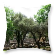 Ancient Ruins Temple Grounds 2 Throw Pillow