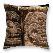 Ancient Skulls Throw Pillow