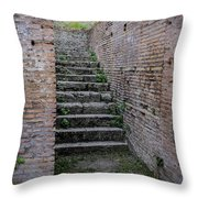 Ancient Stairs Rome Italy Throw Pillow