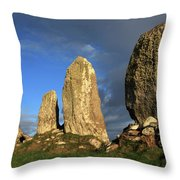 Ancient Stone Alignment Throw Pillow