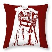 Ancient Templar Knight - 03 Throw Pillow