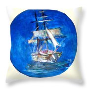 Ancient Vessel Throw Pillow