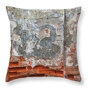 Ancient Wall. Throw Pillow