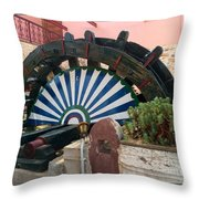 Ancient Water Mill Greece  Throw Pillow