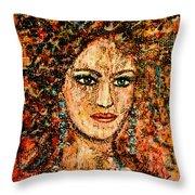 Ancient Woman Throw Pillow