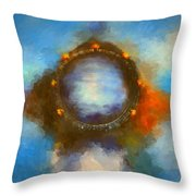 Ancient Worlds Throw Pillow