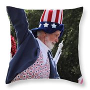 Uncle Sam Says... Throw Pillow