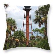 Anclote Key Lighthouse Throw Pillow
