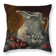 And A Few Grapes Throw Pillow