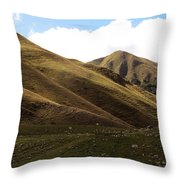 And Autumn Came With Wind And Gold Throw Pillow