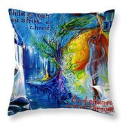 And Change The World Through Song... Throw Pillow
