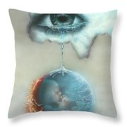And God Weeps Throw Pillow