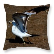 And Here We Go Throw Pillow by Amanda Struz