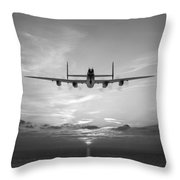 And In The Morning Black And White Version Throw Pillow