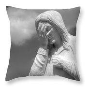 And Jesus Wept II Throw Pillow