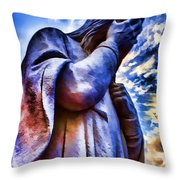 And Jesus Wept Throw Pillow