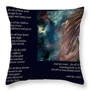 And She Cried - Poetry In Art Throw Pillow