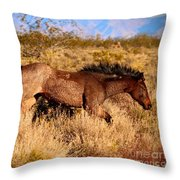 And She Was Running Throw Pillow