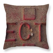 And So Forth Throw Pillow