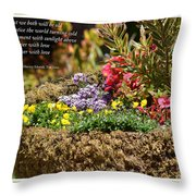 And So In This Moment With Sunlight Above II Throw Pillow