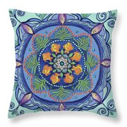 And So It Grows Expansion And Creation Throw Pillow