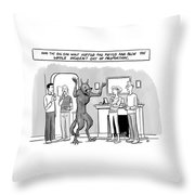 And The Big Bad Wolf Huffed And Puffed Throw Pillow