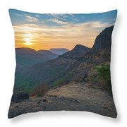 And The Day Begins Throw Pillow