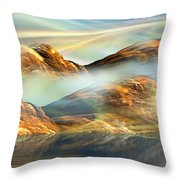 And The Light Shines On And On And On... Throw Pillow