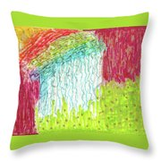 And The Rain Came Throw Pillow