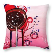 And The Sky Is Pink Throw Pillow