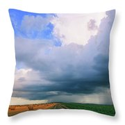 And Then The Sky Opened Throw Pillow