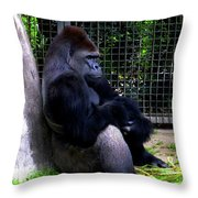And They Have Me In A Cage Throw Pillow