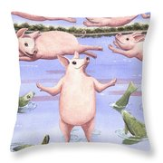 And Walk On Water Throw Pillow