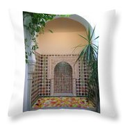 Andalus Mansion In Cordoba Throw Pillow