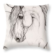 Andalusian Horse Portrait 2015 12 08 Throw Pillow