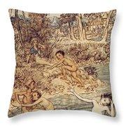 Andersen: Little Mermaid Throw Pillow