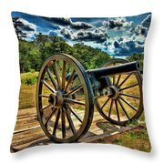 Andersonville Cannon Throw Pillow