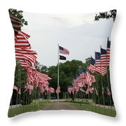 Andersonville National Cemetery Throw Pillow