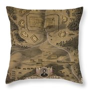 Andersonville Prison Throw Pillow