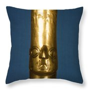 Andes: Gold Effigy, 1400 Throw Pillow