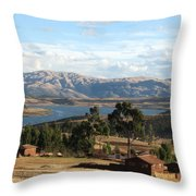 Andes Lake Throw Pillow