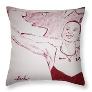 Andre De Grasse Throw Pillow