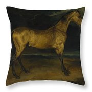Andre Theodore Gericault   A Horse Frightened By Lightning Throw Pillow