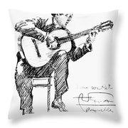 Andres Segovia Throw Pillow