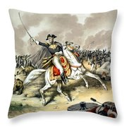 Andrew Jackson At The Battle Of New Orleans Throw Pillow