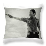 Andrew Lincoln Throw Pillow