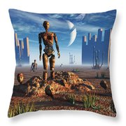 Android Fossils Preserved Throw Pillow