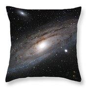 Andromeda Galaxy Lightened Throw Pillow